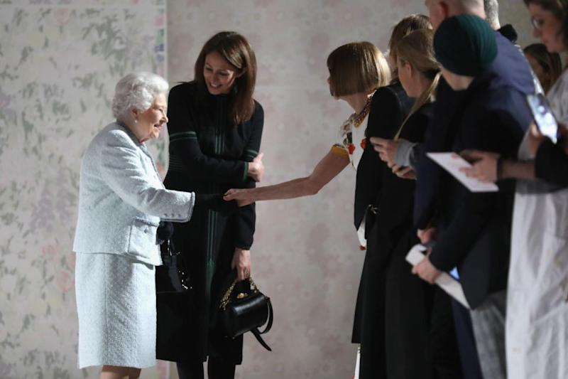 Anna has been accused of etiquette faux pas when she greeted the Queen. Photo: Getty