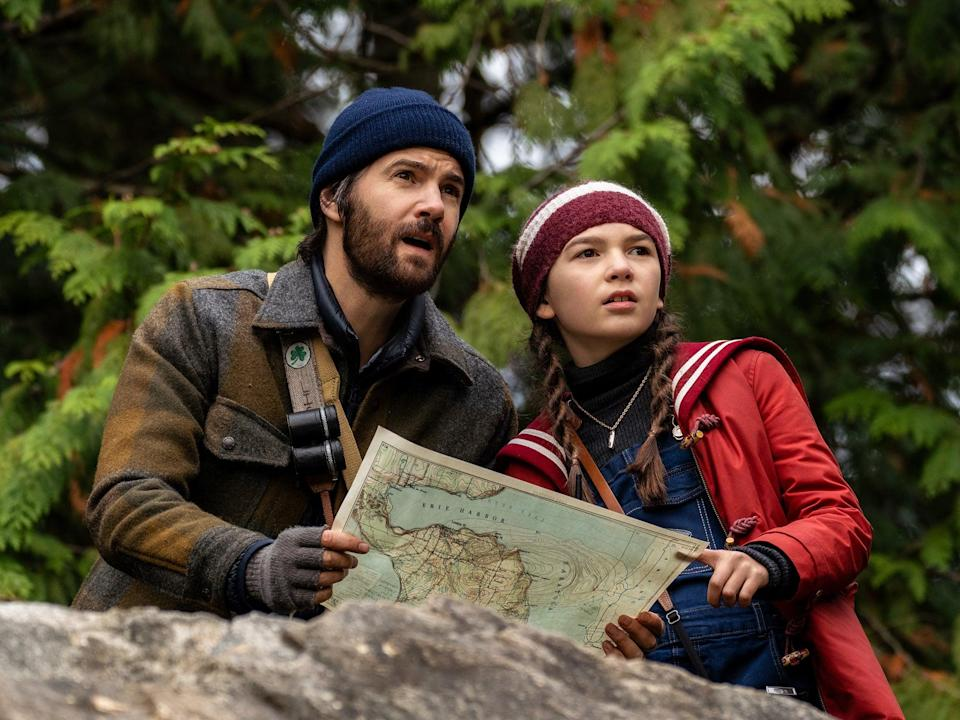 Amateur detectives: Sturgess and Brooklynn Prince in 'Home Before Dark' (Apple TV+)