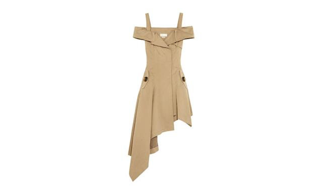 "<p>Off-the-Shoulder Cotton Twill Dress, $1,690, <a href=""https://www.net-a-porter.com/us/en/product/803309/monse/off-the-shoulder-cotton-twill-dress"" rel=""nofollow noopener"" target=""_blank"" data-ylk=""slk:net-a-porter.com"" class=""link rapid-noclick-resp"">net-a-porter.com</a> </p>"