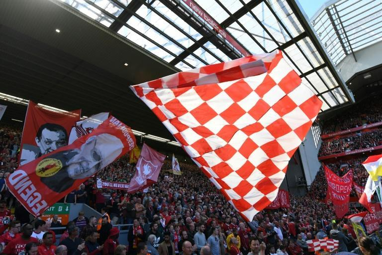 Premier League stadiums will be missing their usual fan noise and colour when football resumes (AFP Photo/Paul ELLIS)