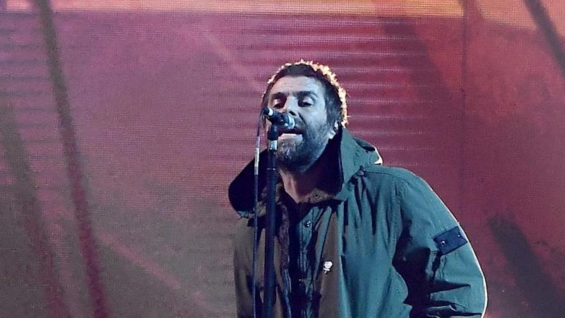 Liam Gallagher Steps In for Ariana Grande With Manchester Tribute at 2018 BRIT Awards