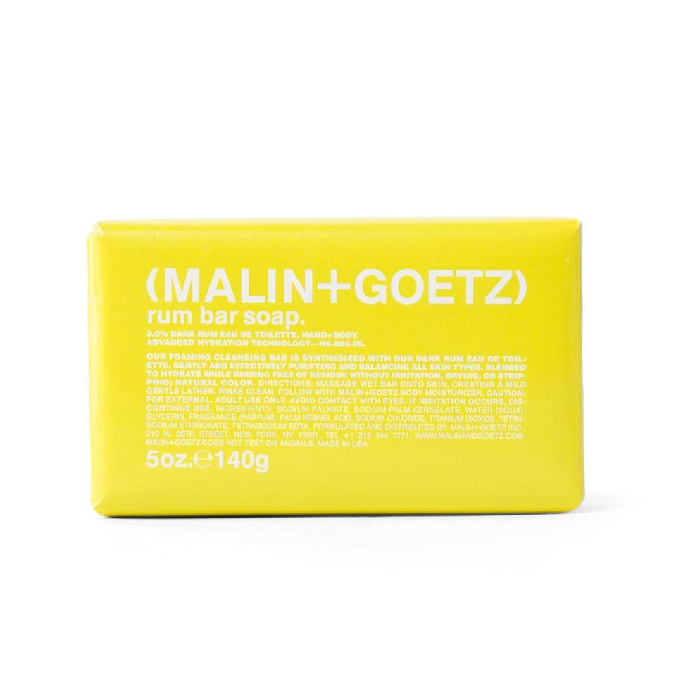 "<p>If a bottle of rum is not quite his jam, Malin+Goetz's Rum Bar Soap is a great alternative and adds a bit of aromatherapy to shower time. The <a href=""https://www.allure.com/gallery/best-bar-soap?mbid=synd_yahoo_rss"" rel=""nofollow noopener"" target=""_blank"" data-ylk=""slk:intensely hydrating bar"" class=""link rapid-noclick-resp"">intensely hydrating bar</a>, which smells softly of dark rum, is gentle on the skin without being irritating, drying, or stripping, thanks to ample <a href=""https://www.allure.com/story/what-is-glycerin-skin-care-ingredient?mbid=synd_yahoo_rss"" rel=""nofollow noopener"" target=""_blank"" data-ylk=""slk:glycerin"" class=""link rapid-noclick-resp"">glycerin</a> in the formula. </p> <p><strong>$16</strong> (<a href=""https://www.amazon.com/Malin-Goetz-Rum-Bar-Soap/dp/B01G9EC8FK"" rel=""nofollow noopener"" target=""_blank"" data-ylk=""slk:Shop Now"" class=""link rapid-noclick-resp"">Shop Now</a>)</p>"