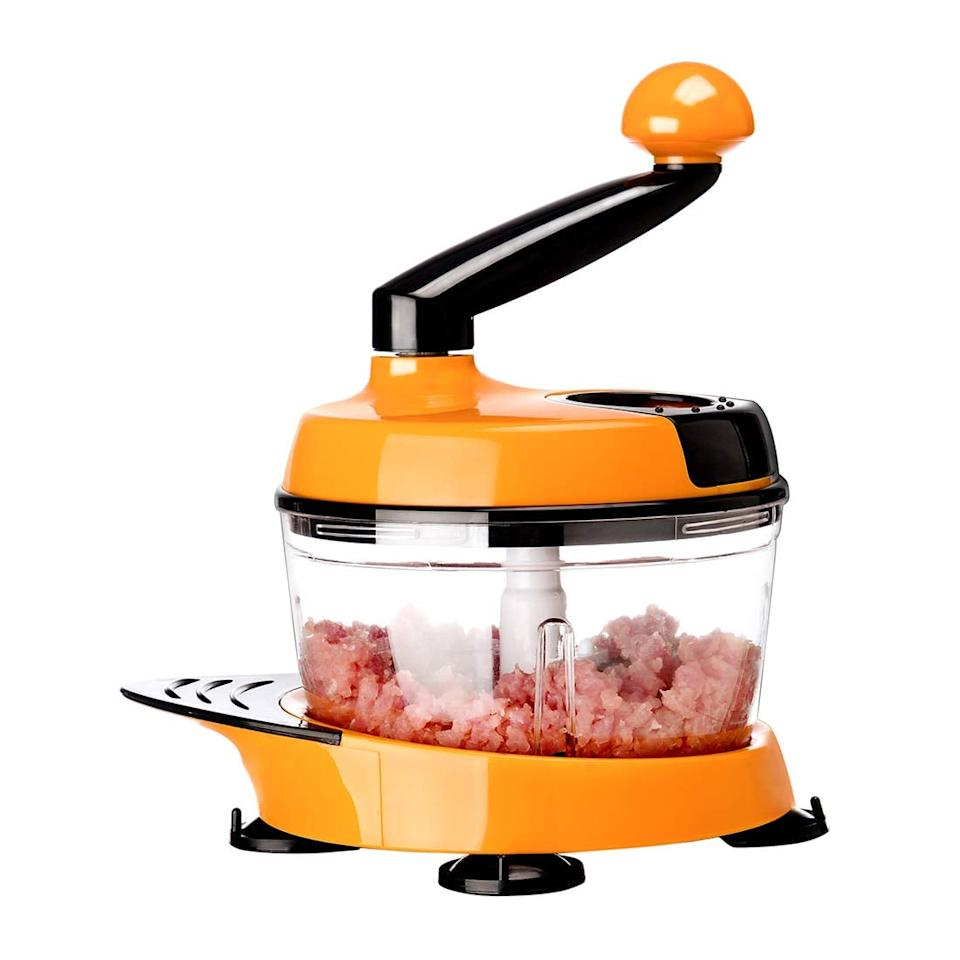 "<p>Use this <a href=""https://www.popsugar.com/buy/Migecon-Kitchen-Manual-Food-Processor-433725?p_name=Migecon%20Kitchen%20Manual%20Food%20Processor&retailer=amazon.com&pid=433725&price=22&evar1=yum%3Aus&evar9=46436783&evar98=https%3A%2F%2Fwww.popsugar.com%2Ffood%2Fphoto-gallery%2F46436783%2Fimage%2F46436903%2FMigecon-Kitchen-Manual-Food-Processor&list1=shopping%2Cgadgets%2Ckitchen%20tools%2Ckitchens%2Ckitchen%20accessories%2Chome%20shopping&prop13=api&pdata=1"" rel=""nofollow"" data-shoppable-link=""1"" target=""_blank"" class=""ga-track"" data-ga-category=""Related"" data-ga-label=""https://www.amazon.com/MIGECON-Kitchen-Processor-Vegetable-Chopper/dp/B07H4JMK6Z/ref=sr_1_20?crid=6SALAK7QWQJX&amp;keywords=onion+chopper&amp;qid=1554935956&amp;s=gateway&amp;sprefix=onion+ch%2Caps%2C207&amp;sr=8-20"" data-ga-action=""In-Line Links"">Migecon Kitchen Manual Food Processor</a> ($22) to chop meat, vegetables, and more in no time.</p>"