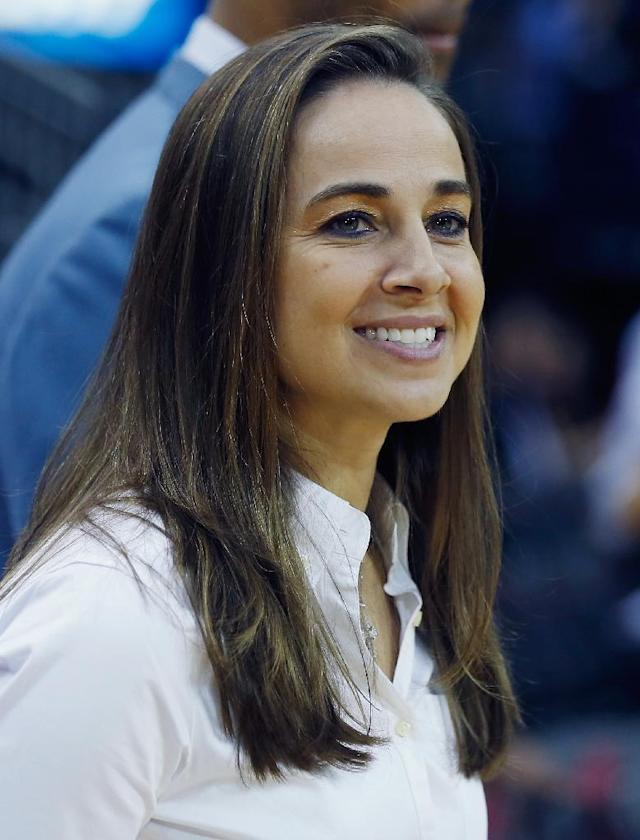 San Antonio Spurs assistant coach Becky Hammon made worldwide headlines when she guided the NBA team to a summer league championship in Las Vegas (AFP Photo/Scott Halleran)