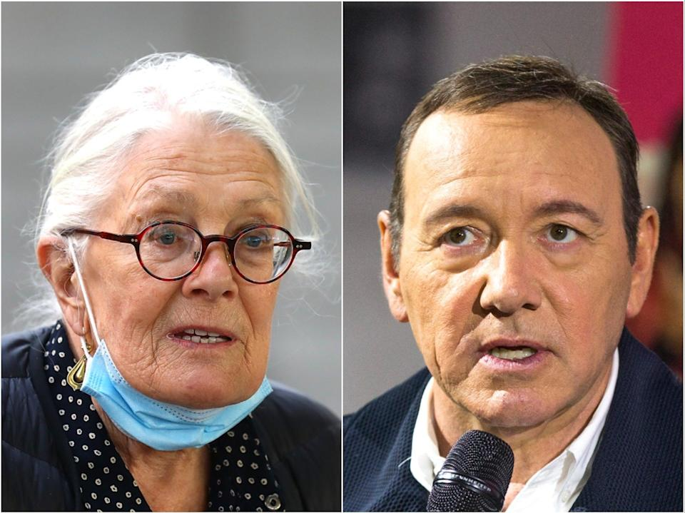 <p>Vanessa Redgrave and Kevin Spacey</p> (Getty)