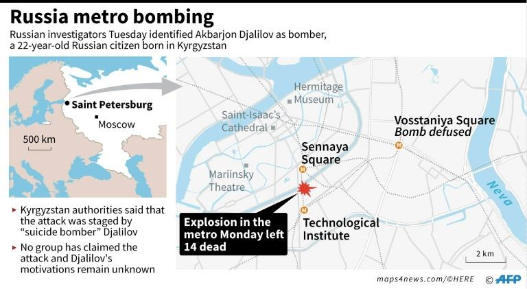 The blast took place between two busy metro stations in Russia's second city