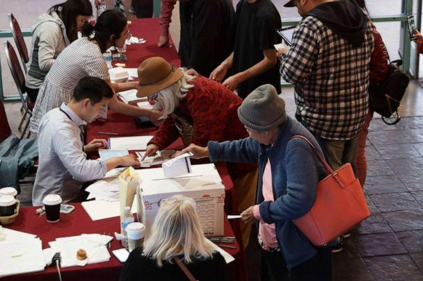PHOTO: Voters participate in early voting in the Nevada Caucus at Chinatown Plaza Mall, Feb. 15, 2020, in Las Vegas, Nevada. (Alex Wong/Getty Images)