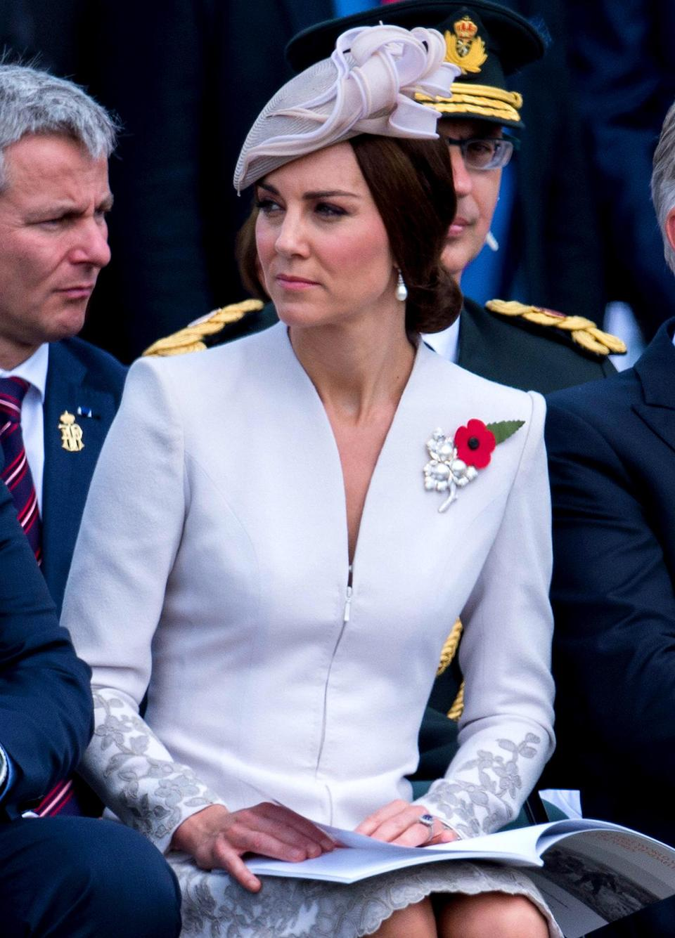 <p>Little is known about the stunning brooch, which reemerged when Kate sported it during a 2017 trip to Belgium. The Queen previously wore the accessory during her visit to South Korea in 1999.</p>