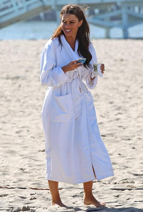 Celebs in bath robes