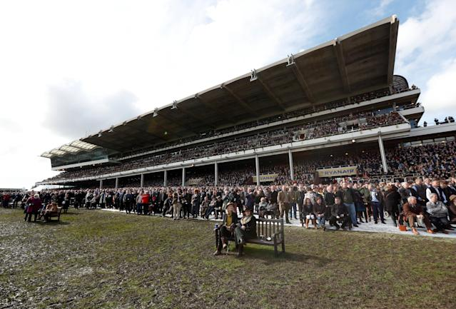 Horse Racing - Cheltenham Festival - Cheltenham Racecourse, Cheltenham, Britain - March 15, 2018 General view of racegoers during the 14:10 Pertemps Network Final Handicap Hurdle Action Images via Reuters/Andrew Boyers