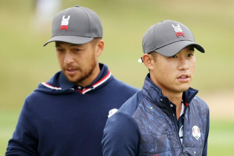 Prized recruits: Olympic gold medallist Xander Schauffele and two-time major winner Collin Morikawa are among six rookies on the US Ryder Cup team at Whistling Straits (AFP/Patrick Smith)