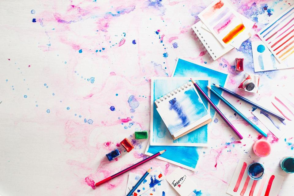 "<p>Set up Mom's craft room with new supplies to surprise her and spend the day creating memories and art to last a lifetime.</p><p><strong><a href=""https://www.countryliving.com/diy-crafts/how-to/g771/mothers-day-crafts-0509/"" rel=""nofollow noopener"" target=""_blank"" data-ylk=""slk:Try these fun Mother's Day craft ideas."" class=""link rapid-noclick-resp"">Try these fun Mother's Day craft ideas.</a></strong></p>"