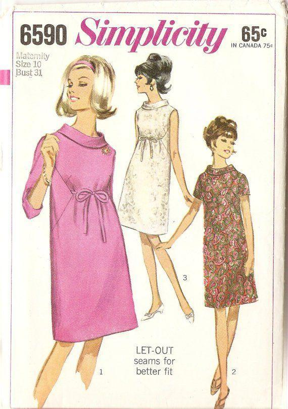 <p>The A-line silhouettes of the 1960s were ideal for the early months, but weren't as versatile in terms of growing with the baby bump. It was around this time that women began to buy maternity clothes for each stage of their pregnancy.</p>