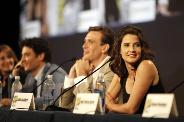 "Cobie Smulders during the ""How I Met Your Mother"" Panel at Comic-Con 2013, held in San Diego, Ca."