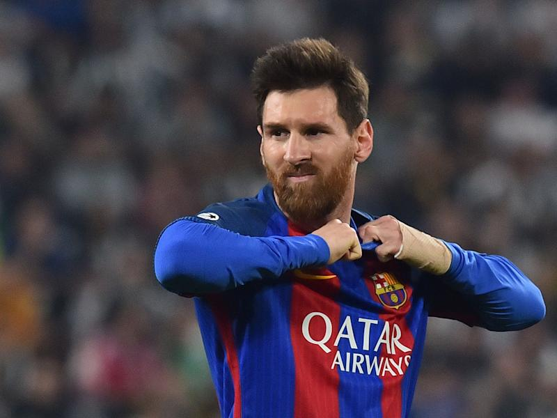 Lionel Messi and his team-mates were left frustrated in a first leg: Getty