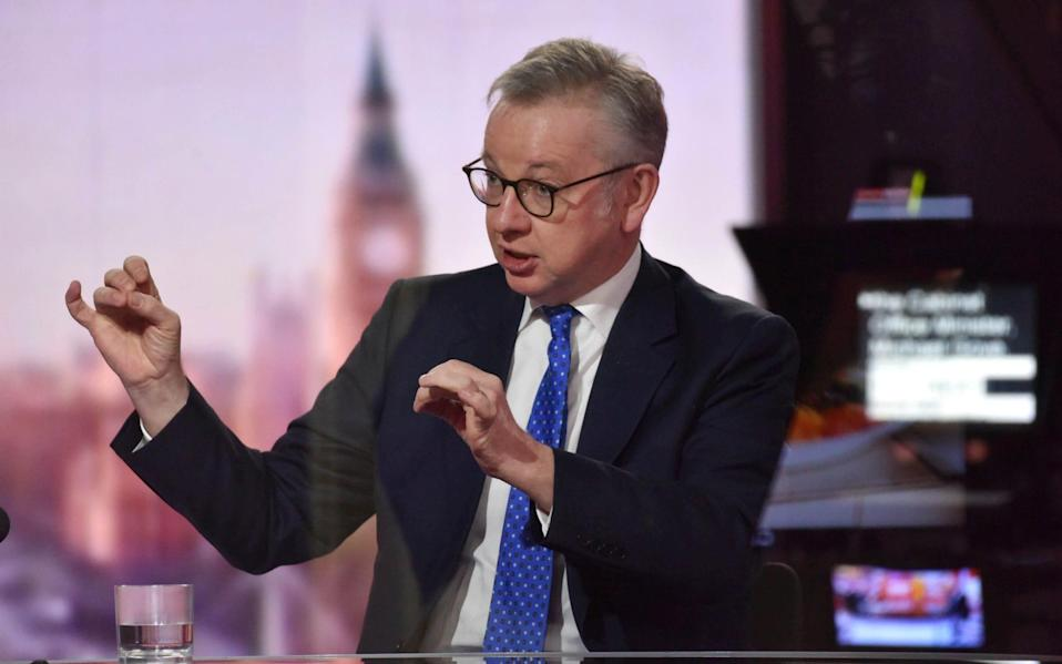 Michael Gove on the Andrew Marr show on Monday