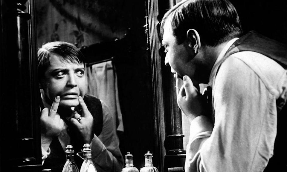 Peter Lorre as the child killer in Fritz Lang's M.