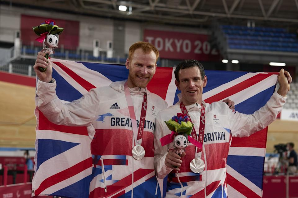 Bate and Duggleby claimed Paralympic  4,000m tandem pursuit silver on the opening day of Paralympic action