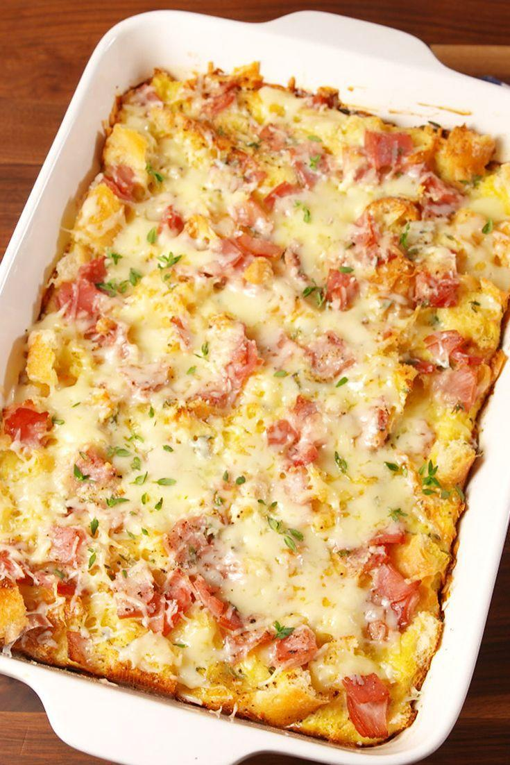 """<p>This breakfast casserole will fill you up 'til the main meal. </p><p>Get the recipe from <a href=""""https://www.delish.com/cooking/recipe-ideas/recipes/a50777/ham-cheese-brunch-bake-recipe/"""" rel=""""nofollow noopener"""" target=""""_blank"""" data-ylk=""""slk:Delish"""" class=""""link rapid-noclick-resp"""">Delish</a>.</p>"""