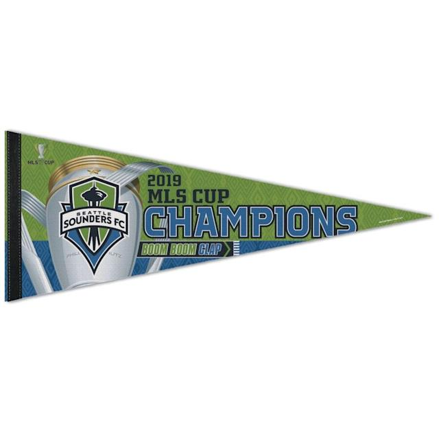Sounders FC 2019 MLS Cup Champions Celebration Pennant