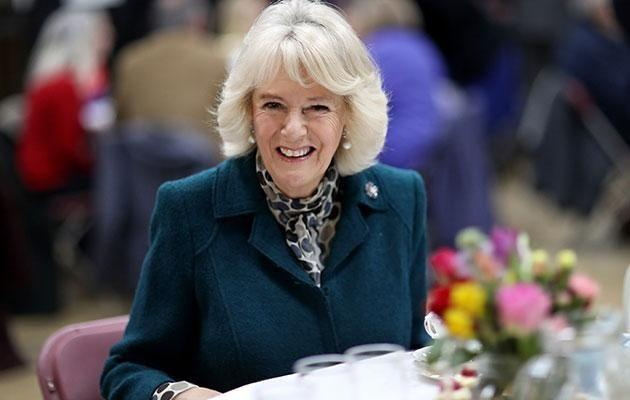Despite not spending Valentines Day with her husband Prince Charles, Camilla seemed to have a ball. Photo: Getty images