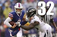 <p>Yep, they have to be No. 32 after that. You have to wonder at what point Sean McDermott's infatuation with Nathan Peterman ends. (Josh Allen) </p>