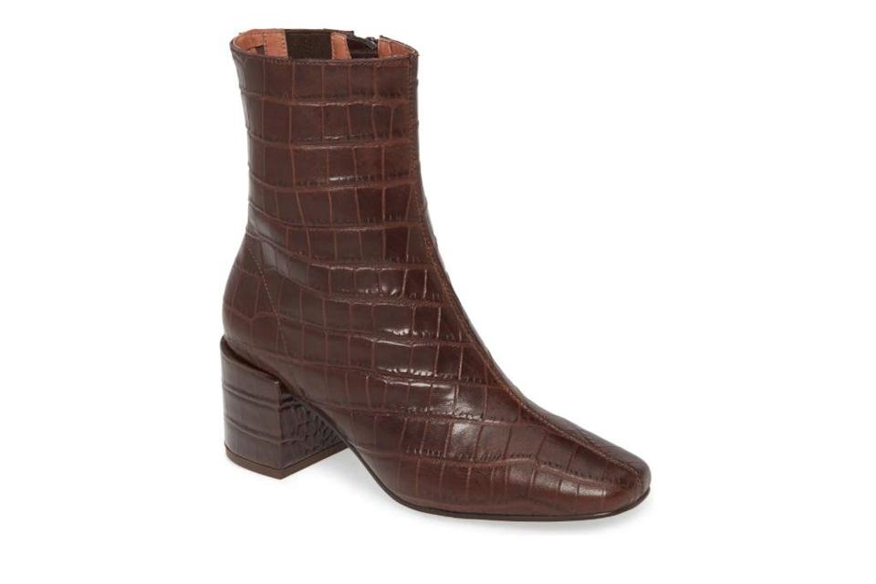crocodile boots, brown boots, booties