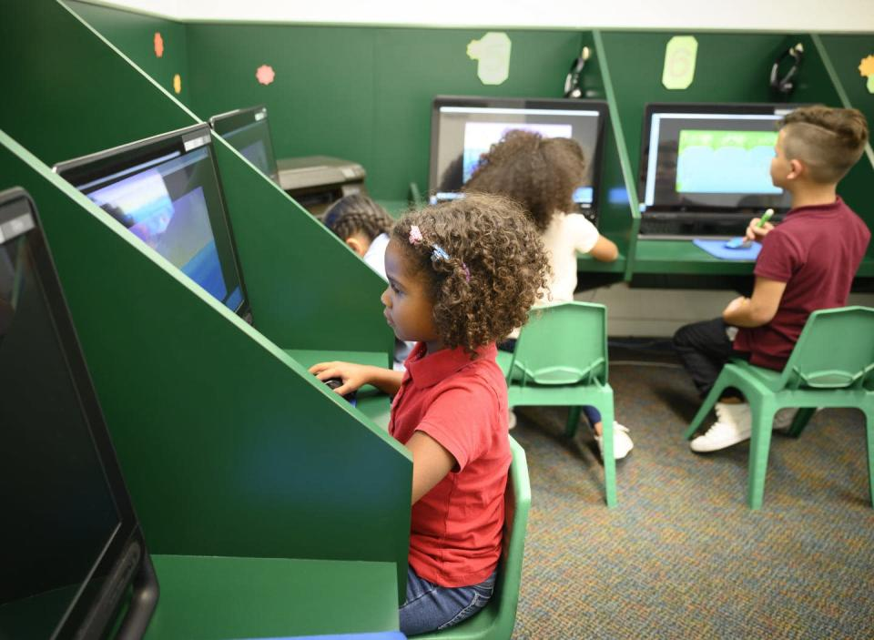 "<span class=""caption"">Online activities can squeeze out time for other important parts of growing up.</span> <span class=""attribution""><a class=""link rapid-noclick-resp"" href=""https://www.gettyimages.com/detail/photo/independent-hispanic-schoolgirl-using-a-desktop-royalty-free-image/1166252121"" rel=""nofollow noopener"" target=""_blank"" data-ylk=""slk:JohnnyGreig/E+ via Getty Images"">JohnnyGreig/E+ via Getty Images</a></span>"