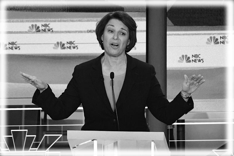 Amy Klobuchar during the first Democratic primary debate of the 2020 presidential campaign in Miami, Florida, June 26, 2019. (Photo: Jim Watson/AFP/Getty Images; digitally enhanced by Yahoo News)