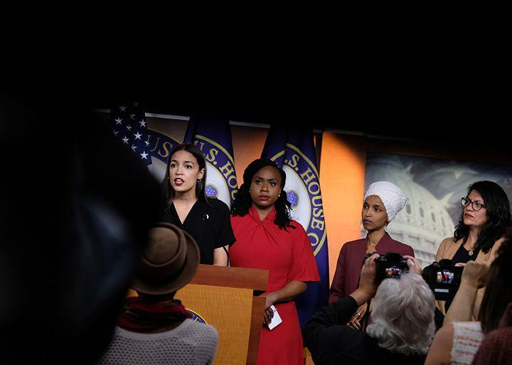 """(Bloomberg) -- President Donald Trump's attacks on four minority congresswomen have stoked a backlash in the media and condemnation in Congress. But he's betting the political benefits are worth it -- and that the comments fire up his base more than they drive away independents.One reason: Trump's insults raise the profile of the most liberal members of the Democratic Party, playing into his hopes of making the 2020 campaign in key battleground states like Wisconsin into a referendum on socialist policies. Polls show that the term """"socialism"""" is a big loser for Democrats.As the controversy enters its sixth day -- fueled by a week of tweets, recriminations and chants of """"Send her back!"""" at a rally in North Carolina Wednesday -- it's become clear that Trump sees a winning strategy.""""I'm not relishing the fight. I'm enjoying it because I have to get the word out to the American people,"""" the president told reporters before the rally.Nowhere are those voters more important than Wisconsin, one of three """"blue wall"""" states -- along with Pennsylvania and Michigan -- that Trump won in 2016. If all else remains the same, Trump must win at least two of those three states to be re-elected.The Trump campaign is following the 2016 playbook: Turning out supporters with a volatile mix of blunt attacks, volatile insults, appeals to white identity politics -- along with touting the strength of the economy since the election.In 2016, 59.5% of Wisconsin voters were white and did not have a four-year college degree, according to an analysis by demographer Bill Frey of the Brookings Institution. The only states with a higher percentage -- West Virginia, North Dakota, South Dakota and Iowa -- lean more to the GOP and have fewer electoral votes.Trump won Wisconsin's 10 electoral votes by flipping 22 counties won by Barack Obama in 2008 and 2012, largely in the rural northern and western parts of the state.""""It's an area that's overwhelmingly white. Wisconsin is not an incredibly diverse state"""