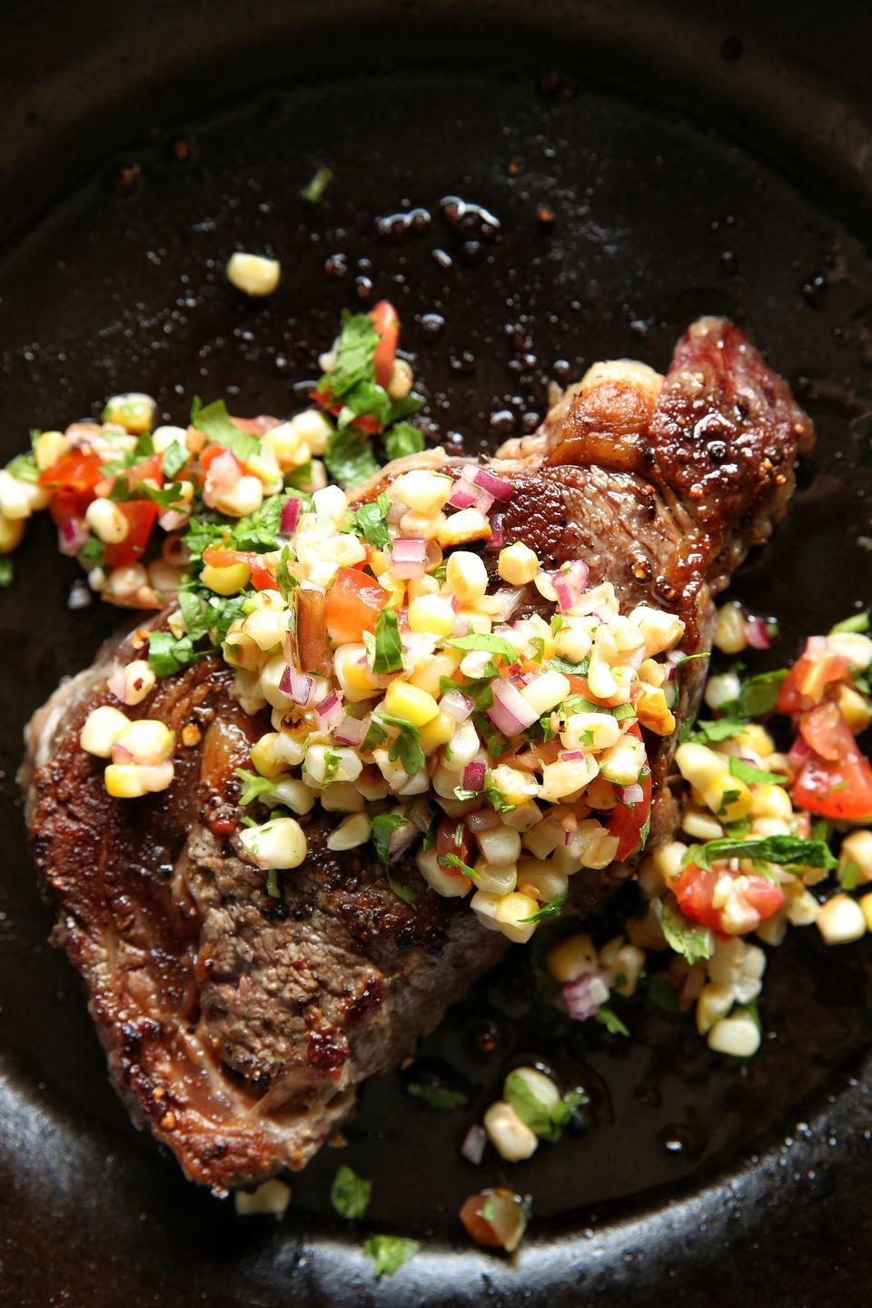 """<p>Our tastebuds are telling us that summer ain't over yet.</p><p>Get the recipe from <a href=""""https://www.delish.com/cooking/recipe-ideas/recipes/a48917/rib-eye-steak-with-grilled-corn-salad-recipe/"""" rel=""""nofollow noopener"""" target=""""_blank"""" data-ylk=""""slk:Delish"""" class=""""link rapid-noclick-resp"""">Delish</a>.</p>"""