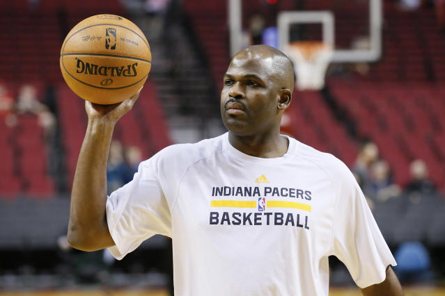 PORTLAND, OR - DECEMBER 2: Indiana Pacers assistant coach Nate McMillan warms up prior to the Portland Trail Blazers 106-102 victory over the Indiana Pacers at the Moda Center on December 2, 2013 in Portland, Oregon. (Photo by Chris Elise/Getty Images)