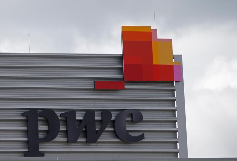 The logo of PwC is seen on the local offices building of the company in Luxembourg