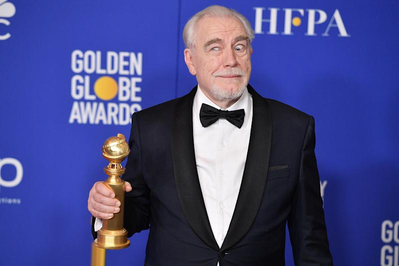 Brian Cox poses in the press room during the 77th Annual Golden Globe Awards at The Beverly Hilton Hotel on January 05, 2020 in Beverly Hills, California. (Photo by George Pimentel/WireImage)