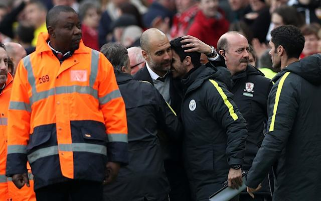 <span>Guardiola says Arteta only has good words to say about Wenger</span> <span>Credit: Getty Images </span>