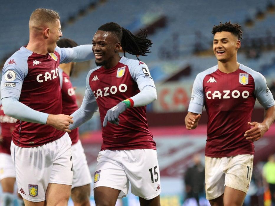 Bertrand Traore of Aston Villa celebrates (Getty)