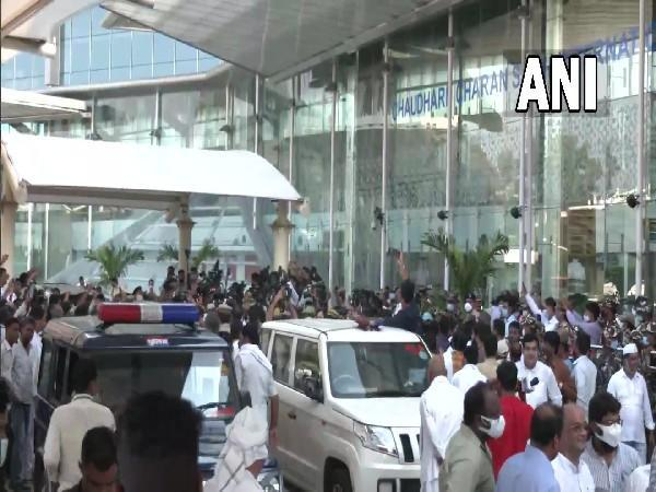 Visuals from Lucknow airport (Photo/ANI)
