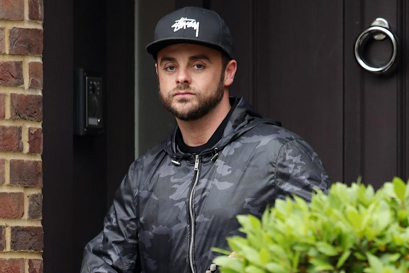 On lockdown: Ant McPartlin is starting rehab in his London home: Splash News
