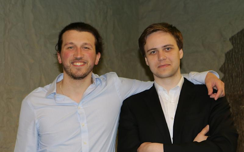 AimBrain co-founders Alesis Novik and Andrius Sutas