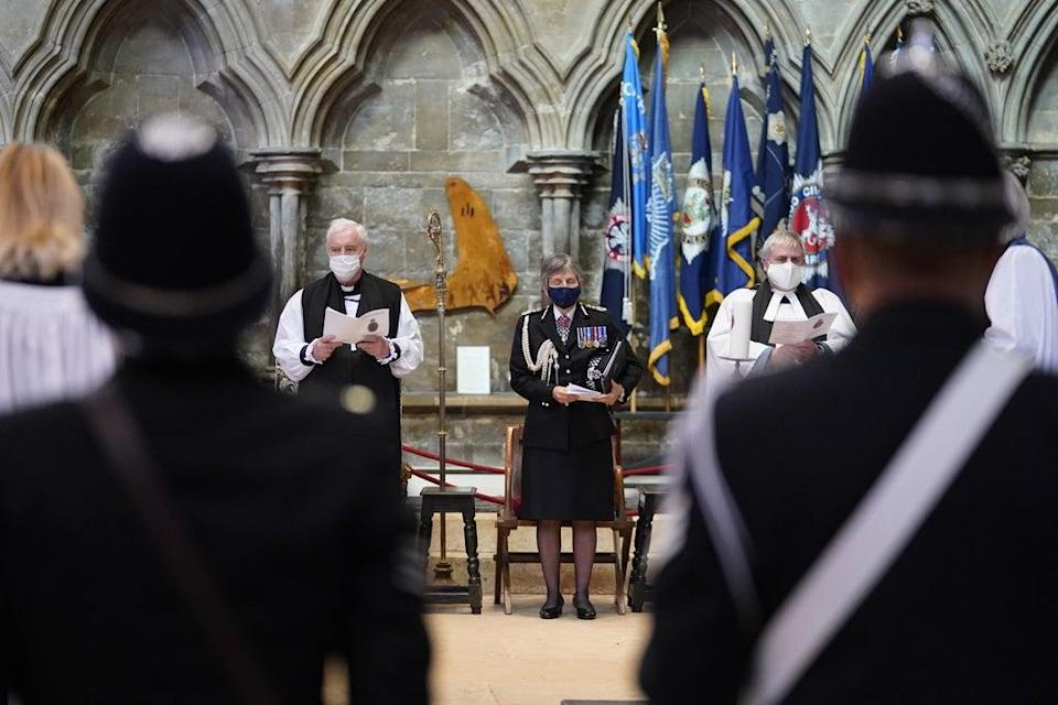Bereaved families and colleagues attended the National Police Memorial Day Service at Lincoln Cathedral (Danny Lawson/PA) (PA Wire)