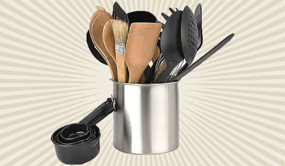 Taking your time to toss your tender at this tool tub? Terrible! (Photo: QVC)
