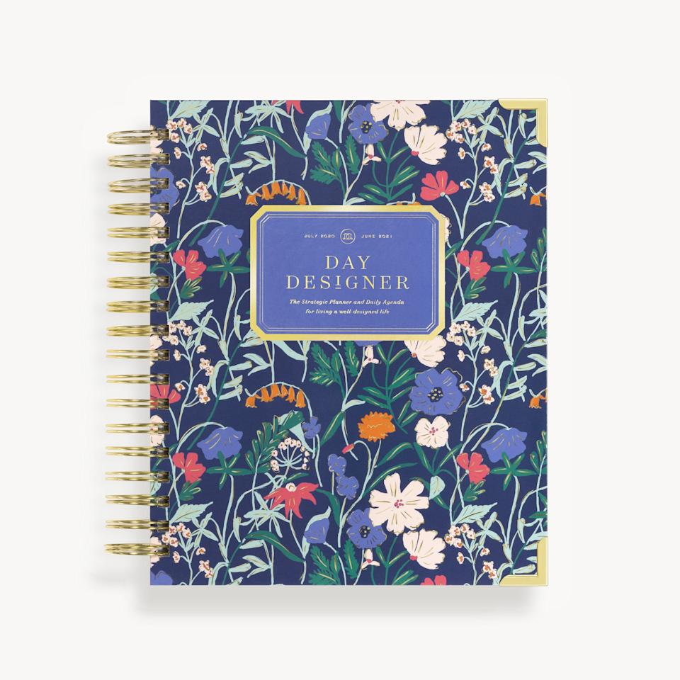 """<h3><a href=""""https://daydesigner.com/collections/academic-year-flagship-daily-planners/products/academic-year-2020-2021-daily-planner-wildflowers"""" rel=""""nofollow noopener"""" target=""""_blank"""" data-ylk=""""slk:Day Designer Academic Year 2020-2021 Daily Planner"""" class=""""link rapid-noclick-resp"""">Day Designer Academic Year 2020-2021 Daily Planner</a></h3> <br>If you're drawn to delicate flora and foliage, this is the academic planner for you. Its signature Today & To-Do page format keeps your schedule and immediate tasks on track, while goal-setting worksheets, annual overviews, and monthly calendars will keep you on top of things over the long term. <br><br><strong>Day Designer</strong> Academic Year 2020-2021 Daily Planner, $, available at <a href=""""https://go.skimresources.com/?id=30283X879131&url=https%3A%2F%2Fdaydesigner.com%2Fcollections%2Facademic-year-flagship-daily-planners%2Fproducts%2Facademic-year-2020-2021-daily-planner-wildflowers"""" rel=""""nofollow noopener"""" target=""""_blank"""" data-ylk=""""slk:Day Designer"""" class=""""link rapid-noclick-resp"""">Day Designer</a><br>"""