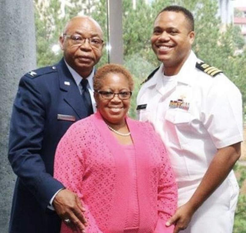 Dr. Timothy Cunningham (right) with his parents