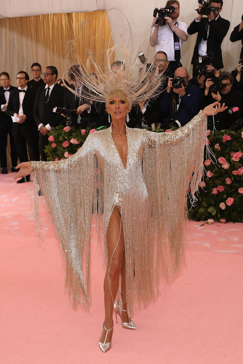 It's Céline Dion. At the Met Gala. She is the eternal inspiration, the forever muse. It's not like you can recreate this look exactly, but you can always vie for the spirit of the performance.
