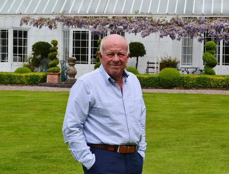 Peter Hargreaves, the co-founder of stockbroker Hargreaves Lansdown, poses at his home near Bristol