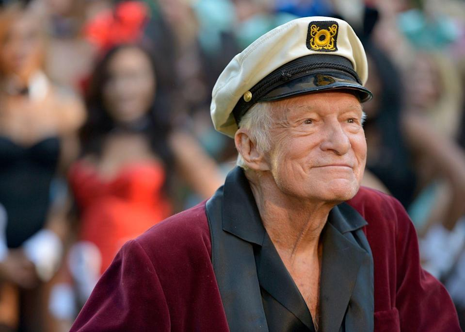 "<p>Hugh Hefner reportedly almost choked on a sex toy during sex. ""What is the closest I've come to death? There was a moment when I was having sex with four Playmates and I almost swallowed a Ben Wa ball,"" he told <a href=""https://www.theguardian.com/lifeandstyle/2009/nov/21/hugh-hefner-interview"" rel=""nofollow noopener"" target=""_blank"" data-ylk=""slk:The Guardian"" class=""link rapid-noclick-resp""><em>The Guardian</em></a>. </p>"