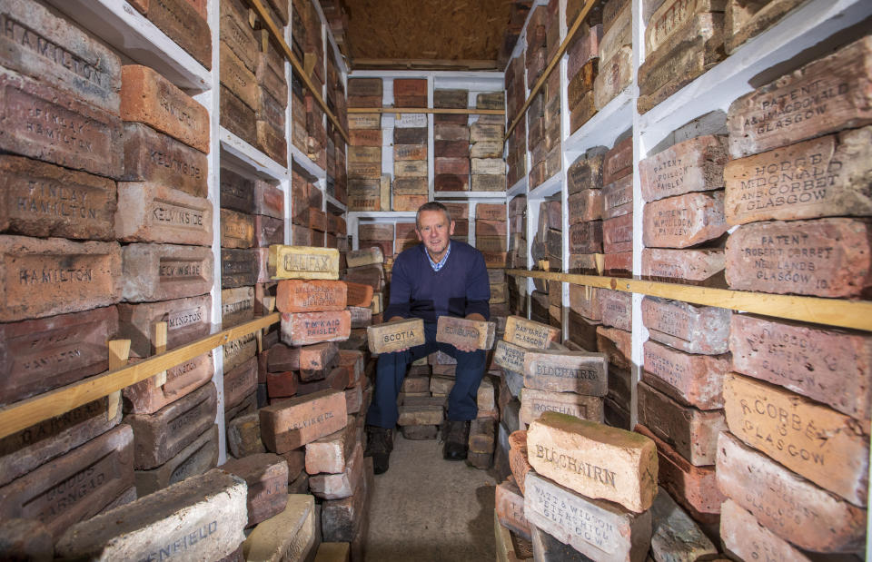 Labour of love: Mr Cranston insists that 'every brick tells a story'. (SWNS)