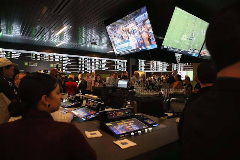 ATLANTIC CITY, NJ - NOVEMBER 20: Atmospher at the Grand Opening of DraftKings Sportsbook at Resorts November 20, 2018 at Resorts Casino Hotel in Atlantic City, New Jersey. (Photo by Bill McCay/Getty Images for Draft Kings)