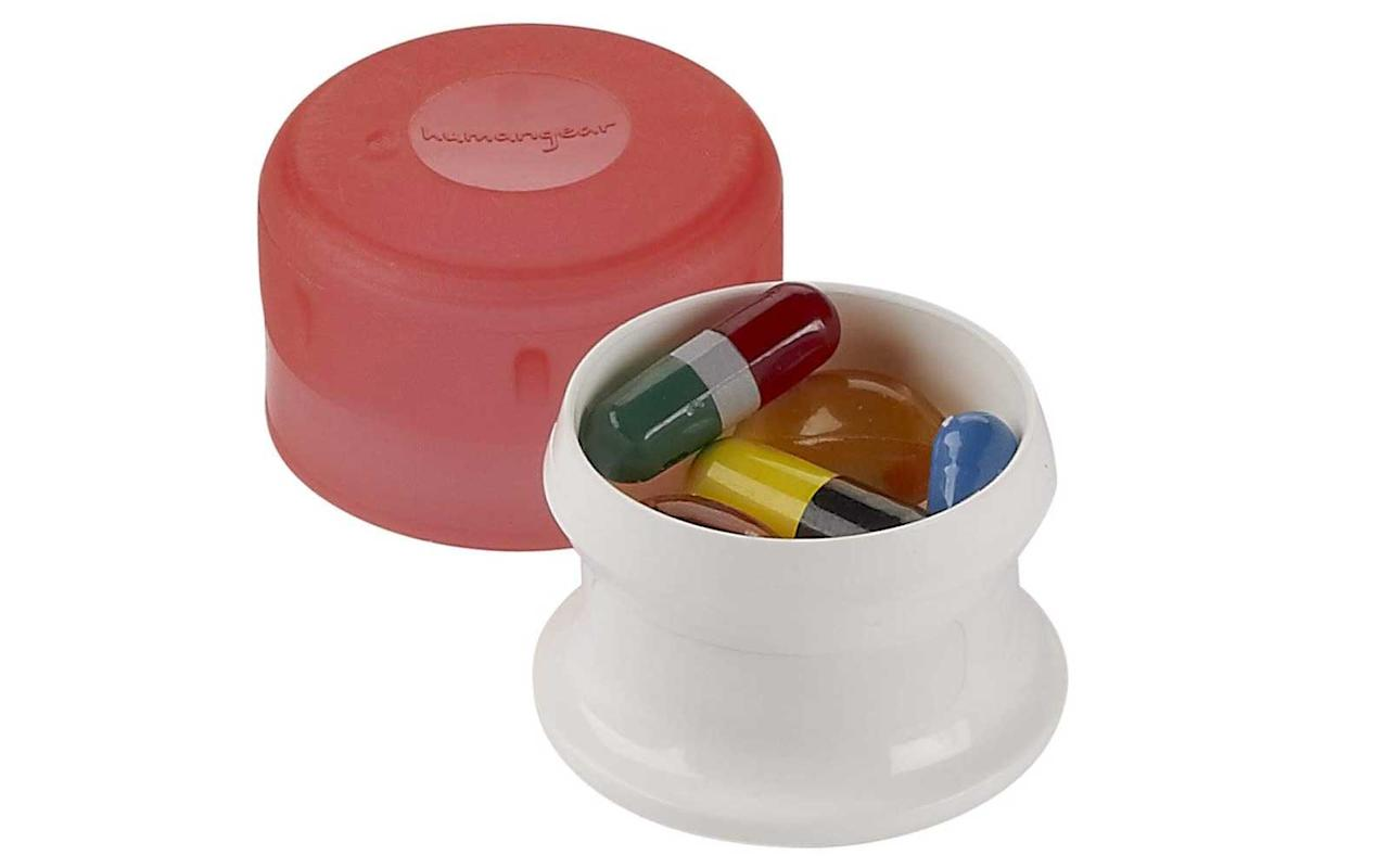 """<p>Keep track of small items, such as pills, jewelry, or loose change, with these handy containers. The best part? you can open and close them with one hand, making these compact jars a breeze to use in the midst of a busy travel day.</p> <p>To buy: <a href=""""https://www.amazon.com/humangear-Gotubb-3-Pack-Small-Orange/dp/B00FP2RNCQ/ref=as_li_ss_tl?ie=UTF8&linkCode=ll1&tag=tltrvluggageorganizersonamazonmdnov19-20&linkId=025ecc91ccf381de018886478d8b9c72&language=en_US"""">amazon.com</a>, $5</p>"""