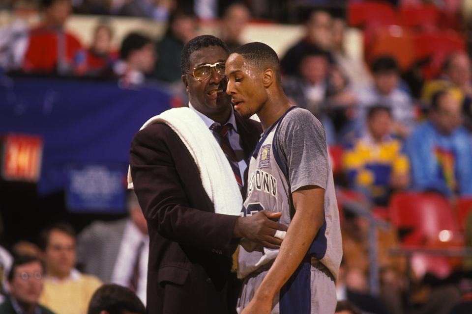 John Thompson had Alonzo Mourning's back when it mattered most. (Photo by Mitchell Layton/Getty Images)